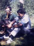 Hervé Butel et Serge Mendola à Chamonix, 1966.