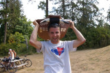 Me and the Cow Pie 8K trophy... ole!