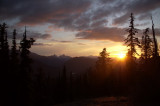Manning sunset while doing pine beetle research