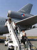 Boarding the KC-10... our flight home