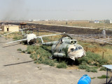 Scrapped russian helicopters