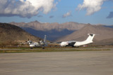Sunny afternoon on Kabul airport