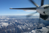 Flying over Afghan rock and ice