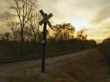 RR Crossing at Sunset
