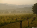 Sunrise in The Smoky Mountains at Cade's Cove