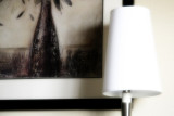 Framed Picture and Lamp