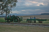 A steam tractor and trailor
