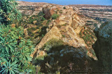 Sandstone ridge to ruins