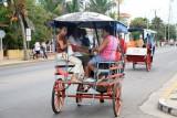 Local horse-driven taxi