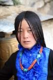 Young Pilgrim Woman at Drepung Monastery