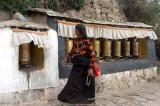 Prayer Wheels at Drepung Monastery