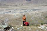 Praying at Sky Burial Site