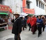 Pilgrims Along Barkhor Street