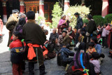 Pilgrims in the Courtyard at Jokhang Temple
