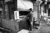 Outdoor shish-kebab stand