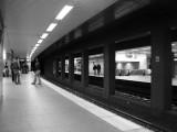 Waiting for the subway (Frankfurt)