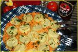 mash potatoes/carots - torteloni - purée