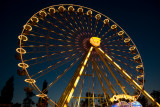 Ferris wheel at the end of the blue hour