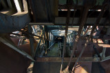 Looking down a chute at blast furnace #5