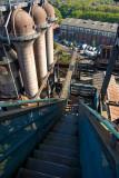 Looking down blast furnace #5