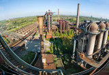 Looking from blast furnace #5 towards #2