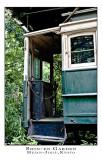 old tram in Shin-en Gardens Kyoto