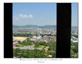 Himeji City from the top of Himeji Jo