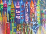 Patchwork lanterns, Anguna Market , Goa - £350 inc frame