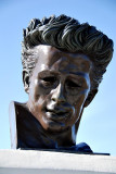Bust of James Dean - Rebel Without a Cause was filmed here