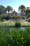 The doctors house from the lake, Fullerton Arboretum