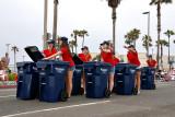 Precision trash can drill team :-)