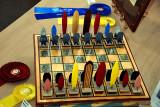 Surfboard chess set