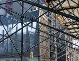 Scaffolding at Houston Street