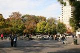 Fountain Plaza & Foliage Skyline