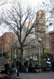 Chess Corner - NYU & Judson Church Buildings at Washington Square South