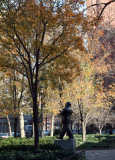 Garden View - Mayor LaGuardia Statue
