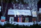 NYU Professional Bookstore Window - Happy Holidays