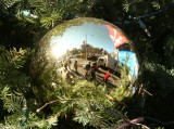 Holiday Tree Gazing Ball