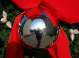 Holiday Wreath at the Arch