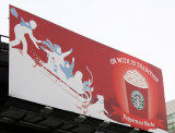 Starbuck's Season Greetings Billboard