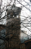 Judson Church Tower & NYU Buildings in Middle East Studies Steam Vent