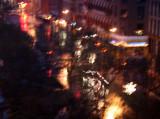 Rainy Christmas Night - Manhattan Downtown View