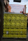 Construction Fence with Billboard Posters