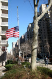 Flag at Half Mast for In Memory of President Ford at 2 Fifth Avenue