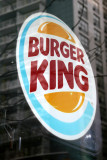 BURGER KING Sign  with Window Reflection of LaGuardia Place Residences