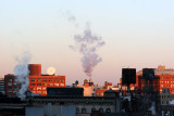Its Cold -January Sunrise & Steam Vents on West Village & New Jersey Horizon