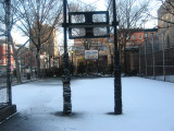 Playground in Early Morning Snow