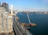 East River Drive, UN Secretariat Building & 59th Street Queens Borough Bridge