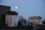 Moon Setting & Sunrise - West Village & New Jersey Palisades