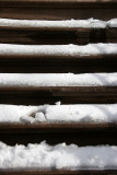 Snow on Stoop Stairs